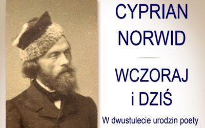 Wykład Cyprian Norwid – Wczoraj i dziś. W dwustulecie urodzin poety