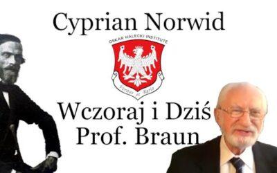 """Film z wykładu prof. dr hab. Kazimierza Brauna """"Cyprian Norwid – Wczoraj i dziś. W dwustulecie urodzin poety."""""""